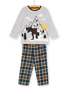 Pyjama enfant garçon motif dinosaure KEGOPYJSKI / 20WH12C4PYJJ922
