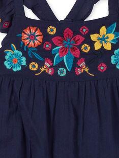 Robe à fines bretelles volantés, brodée à la poitrine, aux manches, et en bas de vêtement LAMUMROB4 / 21S901Z2ROBC211