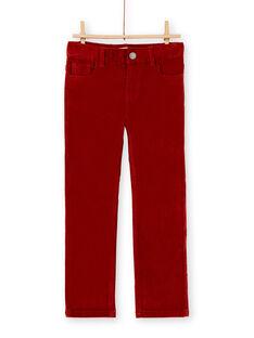 Pantalon en velours brique garçon KOJOPAVEL6 / 20W90243D2BF519