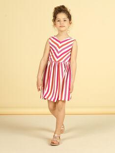 Robe à rayures enfant fille LATEROB4 / 21S901V2ROB001