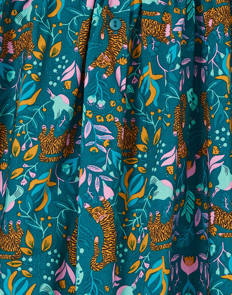 Robe sans manche, imprimé tigre et fleurs LAVEROB1 / 21S901Q2ROB714