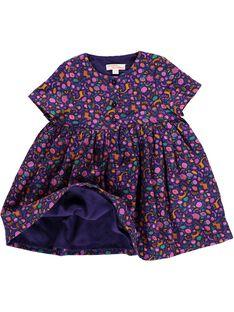 Robe en flanelle bébé fille DIVIOROB3 / 18WG09H3ROB099