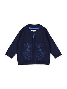 Gilet zippé bleu marine bébé garçon FUJOGIL2 / 19SG1032GIL713
