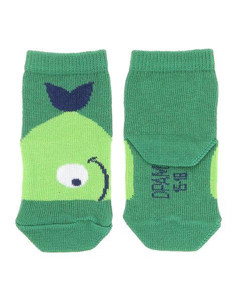 Chaussettes basses vertes bébé garçon CYUJOCHO11A / 18SI10S9SOQ600