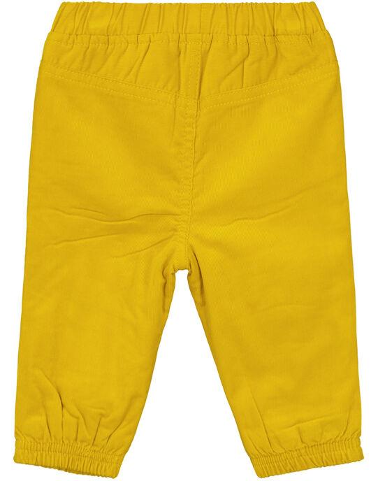 Pantalon jaune velours bébé garçon GUJOPAN2 / 19WG1033PAN109