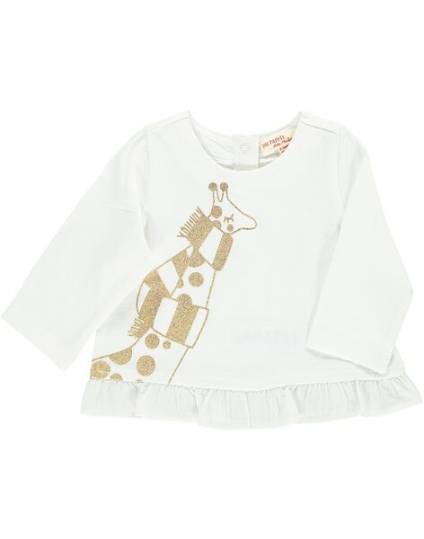 Tee-shirt manches longues bébé fille DIJOTEE1 / 18WG0931TML001