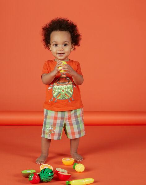 Bermuda à carreaux bébé garçon FUYEBER3 / 19SG10M3BER099