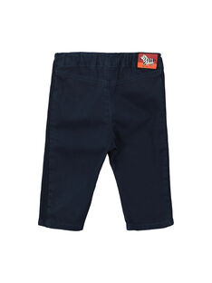 Pantalon bleu marine bébé garçon FUBAPAN3 / 19SG1063PAN717