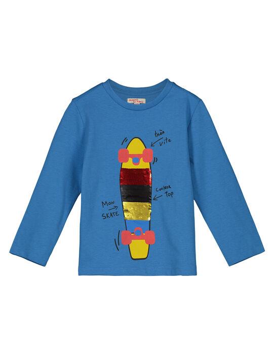 Tee shirt Manches longues Bleu Vif GOBLETEE2 / 19W90291TMLC232