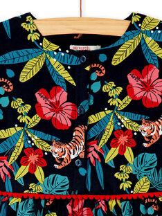 Robe à manches courtes, imprimé végétal et animal KABRIROB1 / 20W901F2ROBC243