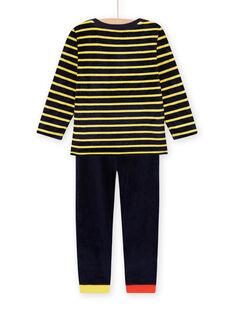 Ensemble pyjama motifs animaux en velours enfant garçon MEGOPYJRAY / 21WH1291PYJ705