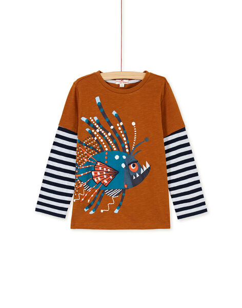 Tee-shirt deux-en-un camel enfant garçon KOECOTEE2 / 20W902H2TML804