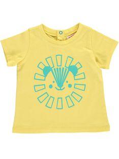 Tee Shirt Manches Courtes Jaune CUJOTI6 / 18SG10R5TMCB102