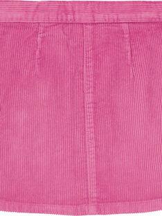 jupe velours trapèze boutons bois  GABRUJUP3 / 19W901K3JUPH700