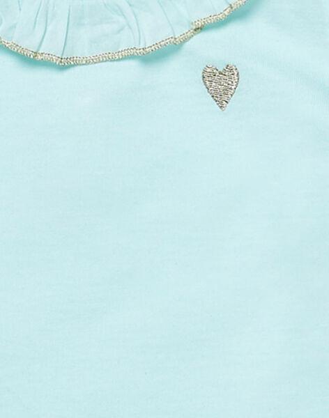 Brassiere manches longues bleue layette fille JIJOBRA3 / 20SG0941BRA219