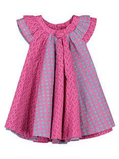 Robe en popeline bébé fille FITUROB4 / 19SG09F4ROB712