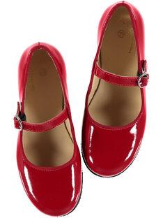 Babies cuir verni rouge enfant fille GFBABRIDER / 19WK35I1D13050