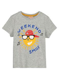 Tee-shirt à message garçon FOJOTI1 / 19S90231D31J908