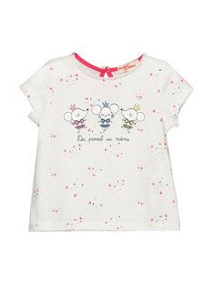 Tee-shirt manches courtes bébé fille FICOTI / 19SG0981TMC000