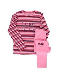 Pyjama en coton fille CEFAPYJROS / 18SH1144PYJ099