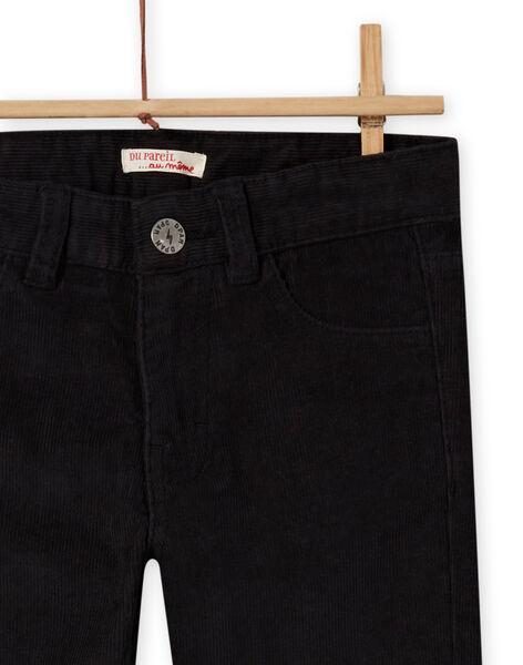 Pantalon uni noir enfant garçon MOJOPAVEL8 / 21W902N4PAN090