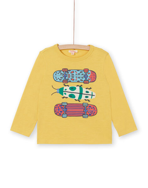 Tee Shirt Manches Longues Jaune LOROUTEE2 / 21S902K3TML102