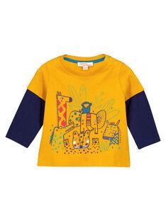 Tee Shirt Manches Longues Jaune GUMUTEE2 / 19WG10F1TML106