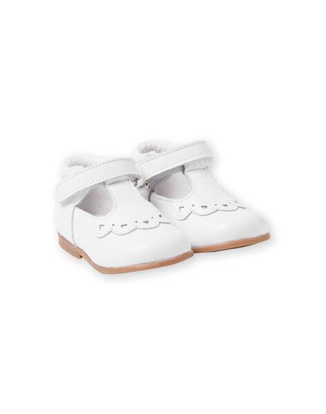Salomés blanches bébé fille LBFSALCOEUR / 21KK3733D13000