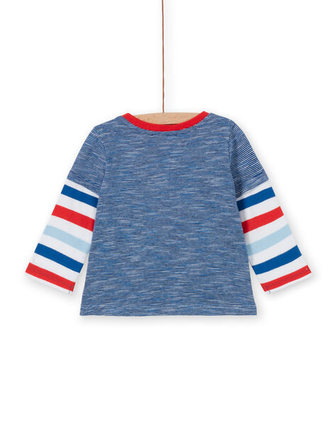 Tee Shirt Manches Longues Bleu marine LUCANTEE3 / 21SG10M3TML707