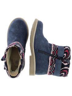 Boots en cuir fille DFBOOTCOT1 / 18WK35T2D0D070