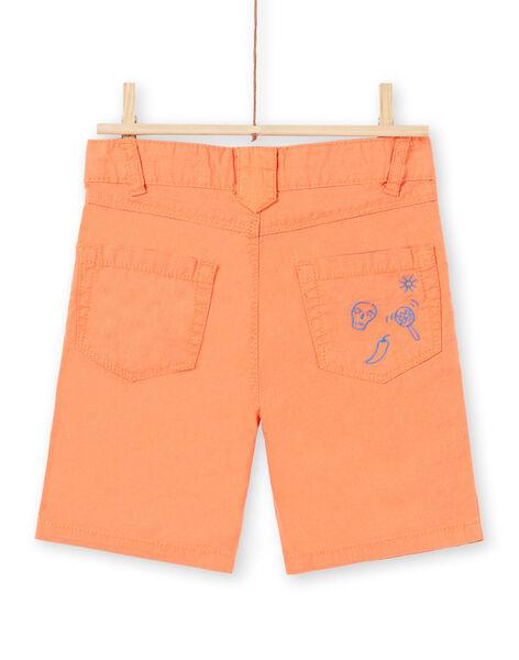 Bermuda orange enfant garçon JOMARBER2 / 20S902P2BERE405