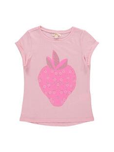 Tee-shirt manches courtes fille FAJOTI12 / 19S901G6D31D303