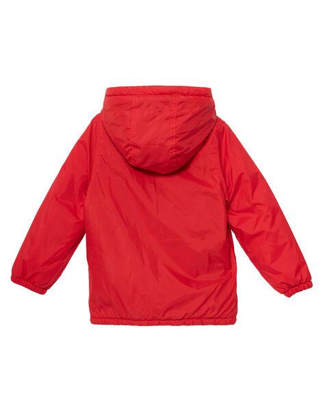 Blouson impermébale garçon rouge doublé chaud JOGROBLOU1 / 20S902I1BLOF505
