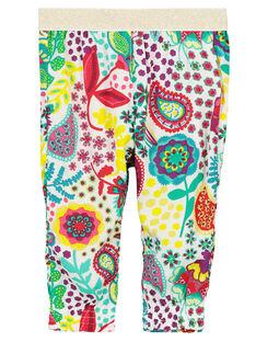 Pantalon confort imprimé bébé fille FICAPAN / 19SG09D1PAN000