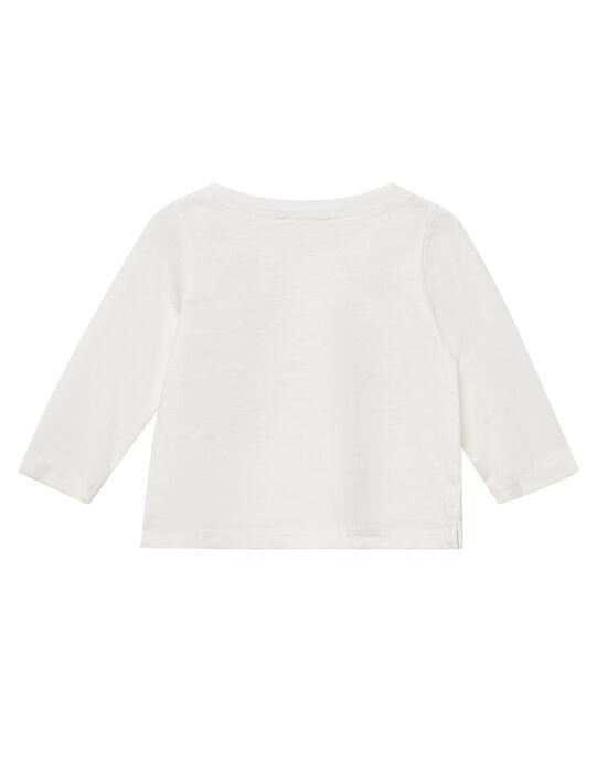 Tee shirt manches longues ecru layette fille JIGRATEE1 / 20SG09E1TML001