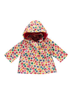 Imperméable fleuri bébé fille FICOIMP / 19SG09X1IMP099