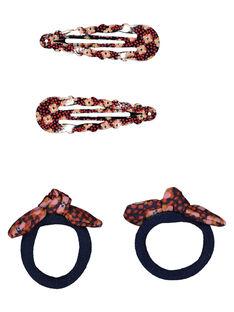Lot de deux barrettes clip et deux élastiques GYASANCLIC2 / 19WI0176BRT070