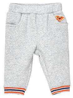 Pantalon tout doux à l'intérieur rib en bas de jambes bébé garçon JUVIPAN / 20SG10D1PANJ908