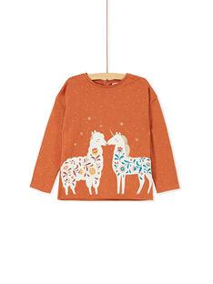 T-shirt à manches longues AOP pois à paillettes et imprimé lama & licorne KAGOTEE4 / 20W901L4TML420
