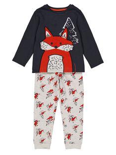 Pyjama gris en molleton enfant garçon GEGOPYJRENA / 19WH12N6PYJJ912