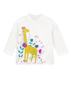 Tee Shirt Manches Longues Ecru GUMUTEE1 / 19WG10F2TML001