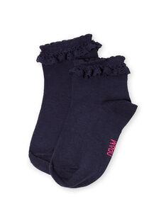 paire de chaussettes enfant fille LYAJOSCHO2B / 21SI014CSOQC205