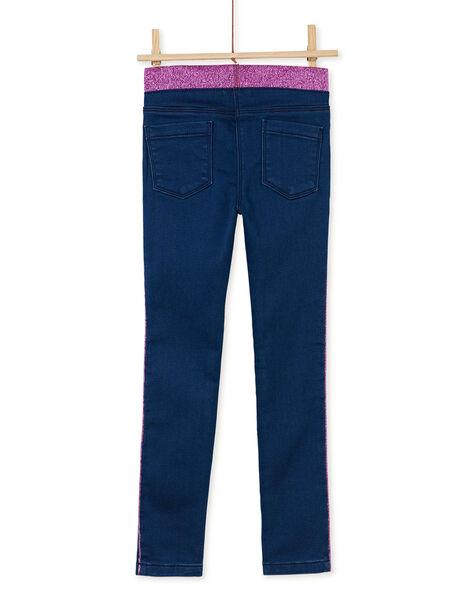 Jean maille à taille élastiquée en lurex  KAECOJEAN / 20W901H1JEAP274