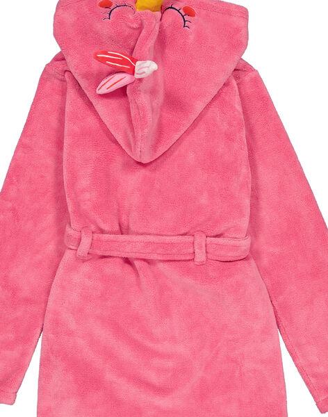 Robe de chambre flamand rose en soft boa enfant fille GEFAROBFLA / 19WH11N1RDCD308