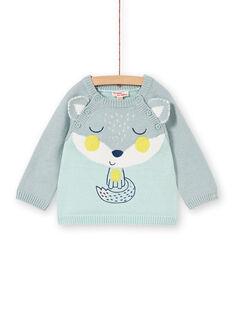 Pull tricot bleu bébé garçon KUBOPUL / 20WG10N1PULC227