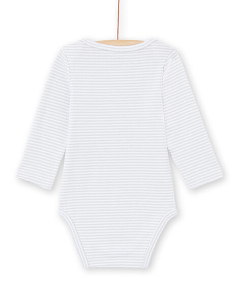 Body gris pâle à rayures bébé garçon MEGABODKOA / 21WH14B7BDLJ925