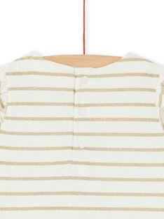 Tee-shirt rayé doré bébé fille KINOTEEX / 20WG09Q1TMC001