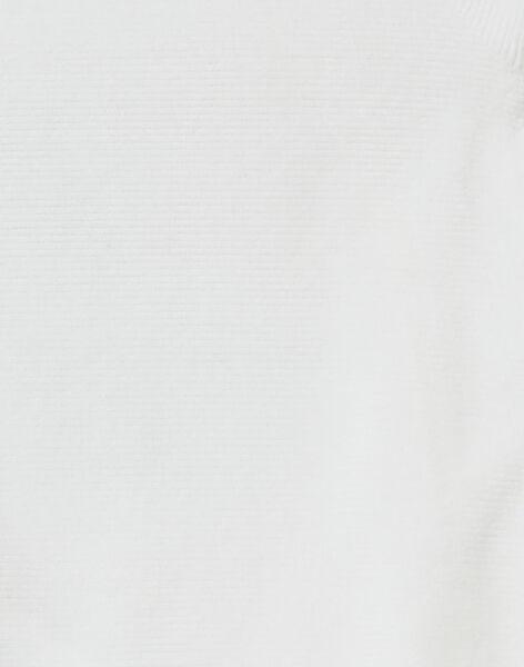Grenouillère en velours ecru KOU1GRE1 / 20WF7713GRE001