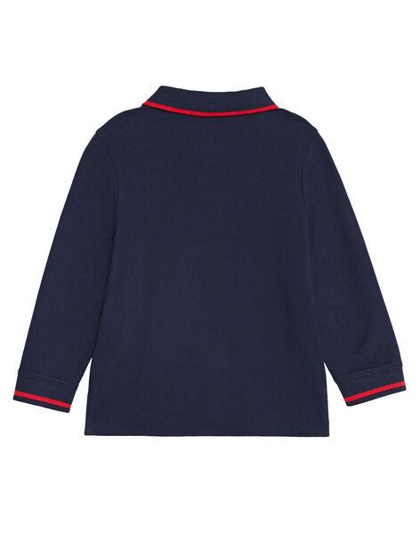 Polo marine manches longues garçon KOJOPOL1 / 20W90254D2D705