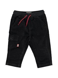 Pantalon en velours noir bébé garçon DUJOPAN1 / 18WG1031PAN090